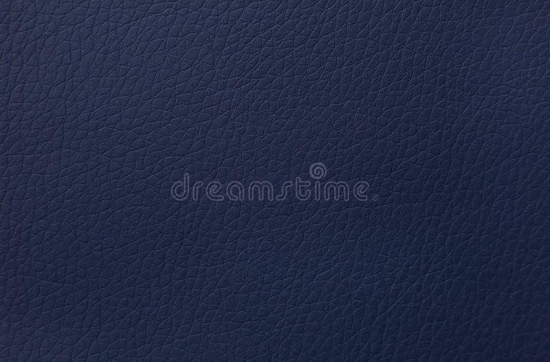 Fundo de couro azul da textura imagens de stock