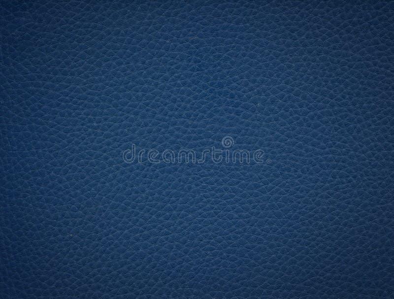 Fundo de couro azul fotografia de stock