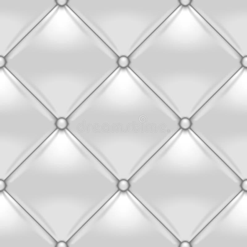 Fundo de couro botão-adornado branco ilustração royalty free