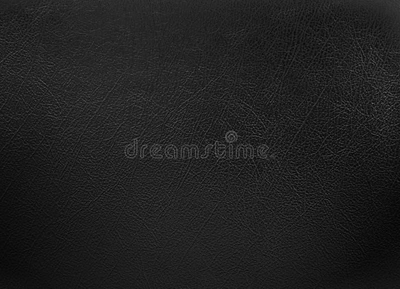 Fundo de couro colorido preto da textura imagens de stock