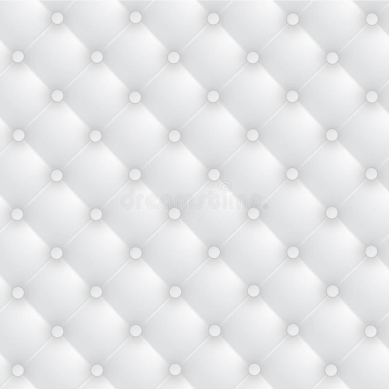 Upholstery de couro luxuoso branco ilustração royalty free