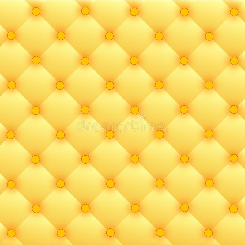 Upholstery de couro luxuoso do ouro ilustração stock