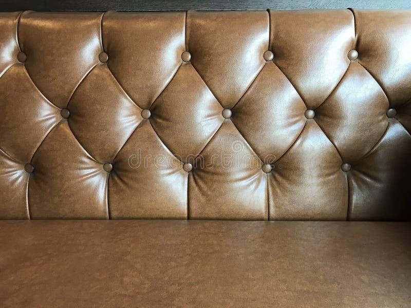 Fundo de couro marrom do sofá da textura do vintage fotos de stock royalty free