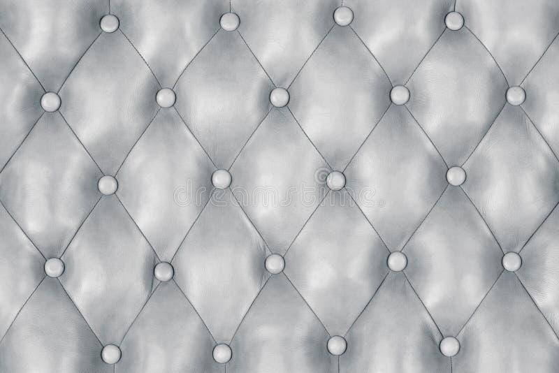 Fundo de couro de prata, textura luxuosa cinzenta da platina imagem de stock