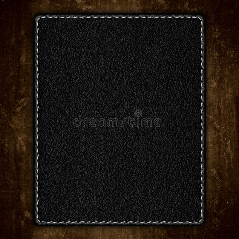Fundo de couro preto imagem de stock royalty free