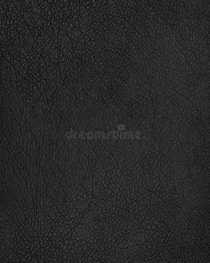 Fundo de couro preto da textura imagens de stock royalty free
