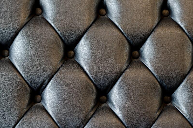 Fundo de couro preto da textura imagens de stock