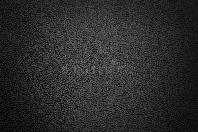 Fundo de couro sintético preto com vinheta imagem de stock royalty free
