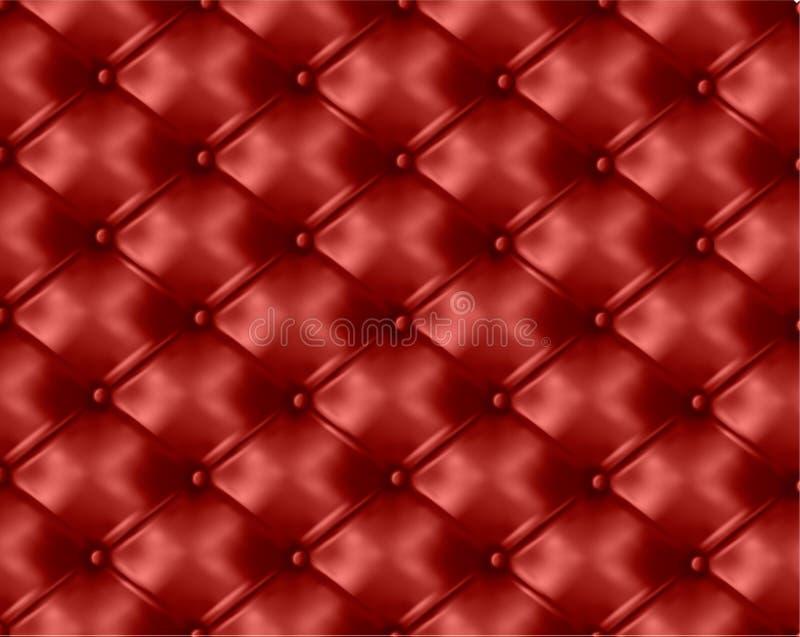Fundo de couro tecla-adornado vermelho. Vetor ilustração royalty free