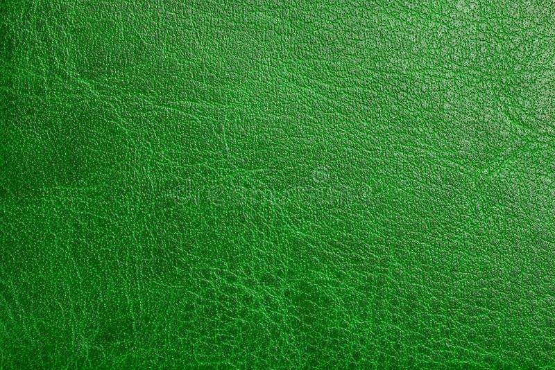 Fundo de couro verde fotografia de stock