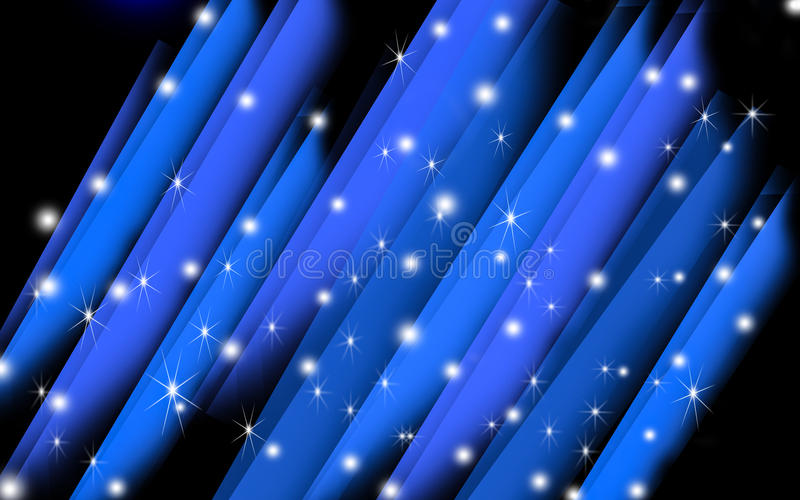 Fundo de cristal abstrato azul ilustração do vetor