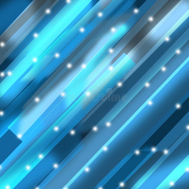 Fundo de cristal azul ilustração royalty free