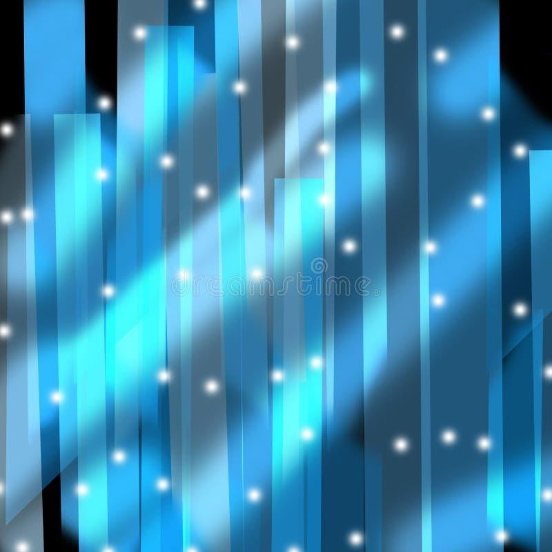 Fundo de cristal azul ilustração do vetor