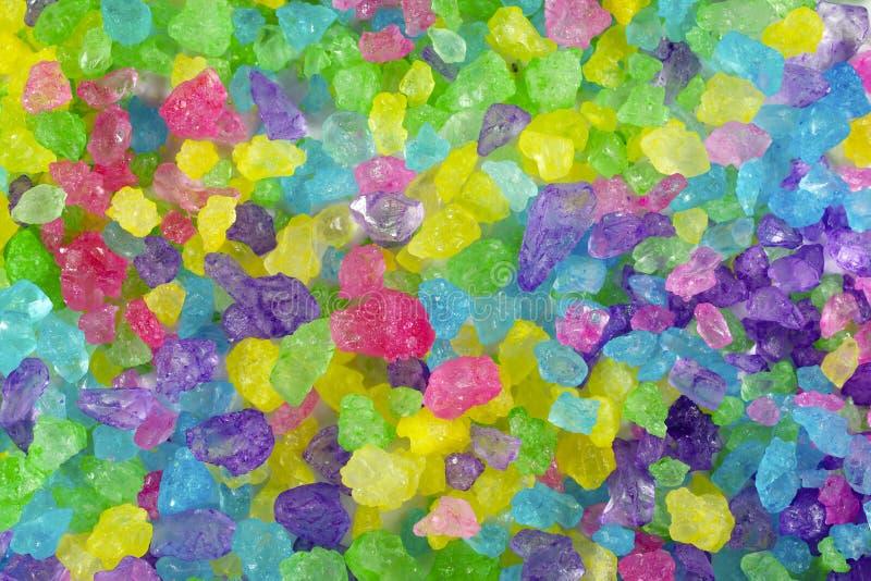 Fundo de cristal colorido da rocha imagem de stock