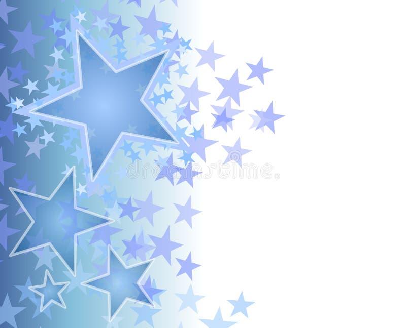 Fundo de desvanecimento azul das estrelas ilustração royalty free