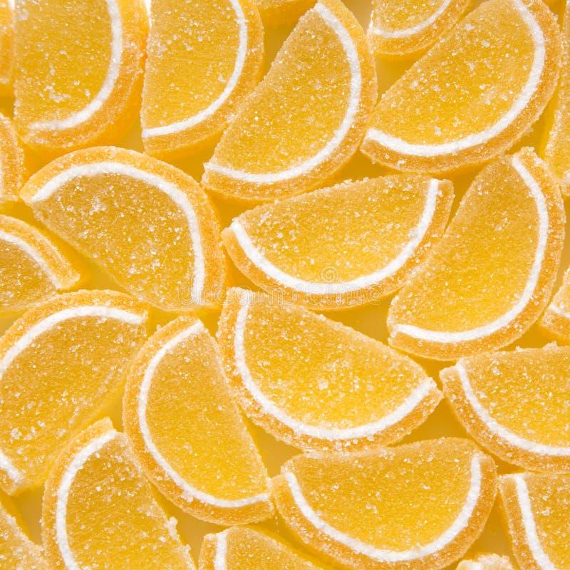 Fundo de doces amarelos do doce de fruta imagem de stock