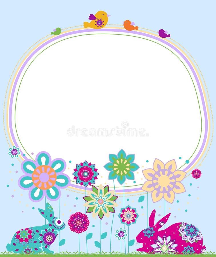 Fundo de Easter. ilustração royalty free