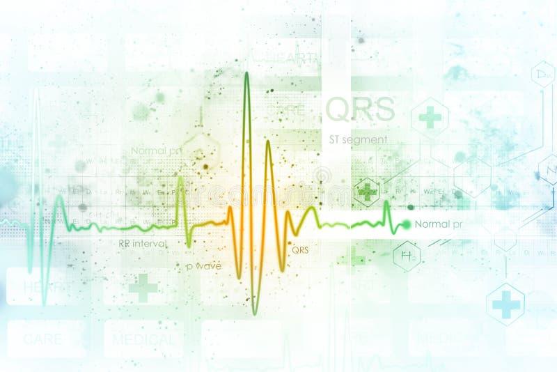Fundo de ECG Tra?o do pulso ilustração do vetor