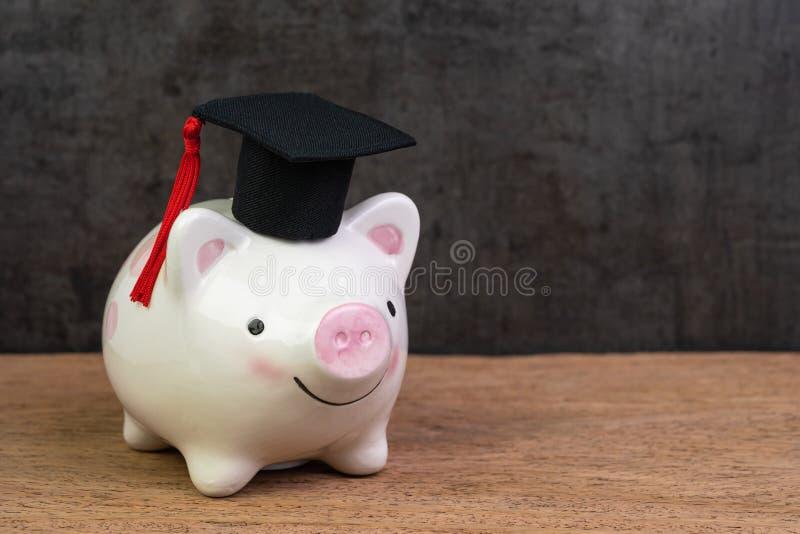 Fundo de ensino, bolsas de estudos, custo da universidade e despesa ou salvamento para o conceito do empréstimo do estudante, ves fotos de stock