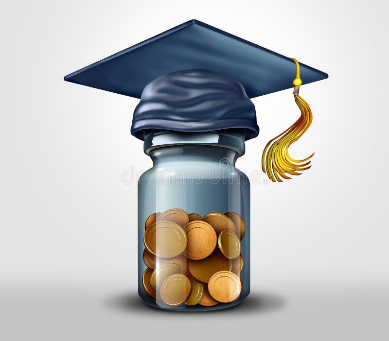 Fundo de ensino ou bolsas de estudos e aprendizagem ilustração stock
