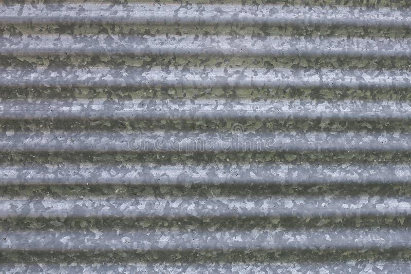 Fundo de escaninho de armazenamento de aço galvanizado ondulado da grão da exploração agrícola foto de stock