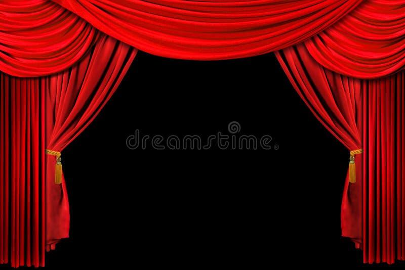 Fundo de estágio drapejado vermelho ilustração royalty free