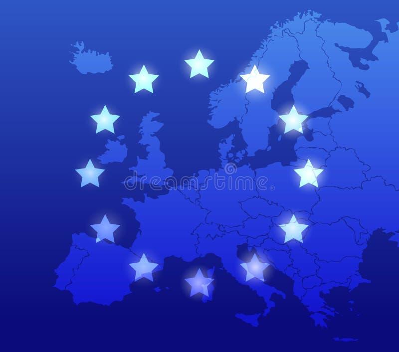 Fundo de Europa ilustração stock