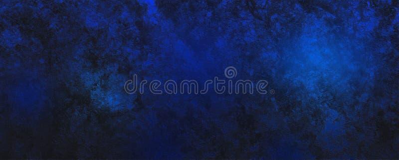 Fundo de fantasia abstrata de sonho preto e azul imagens de stock