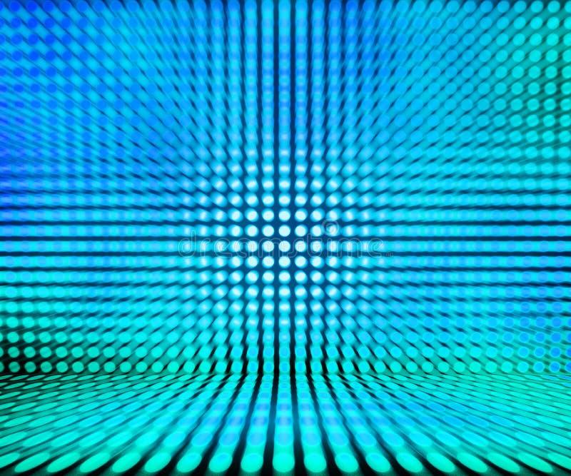 Fundo de fase clara azul do diodo emissor de luz ilustração do vetor