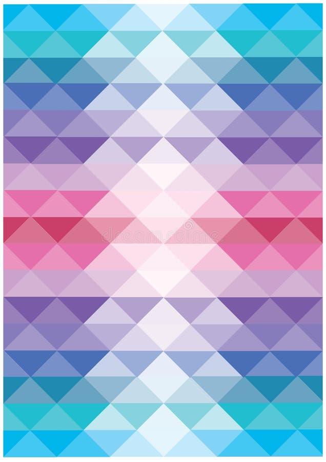 Fundo de fluxo brilhante abstrato do vetor dos triângulos ilustração royalty free