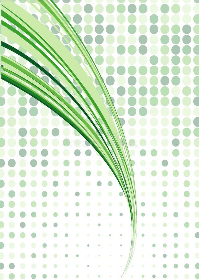 Fundo de fluxo retro verde ilustração do vetor