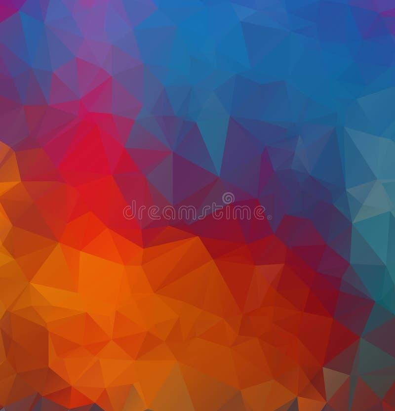 Fundo de formas geométricas Fundo retro do triângulo Teste padrão de mosaico colorido ilustração stock