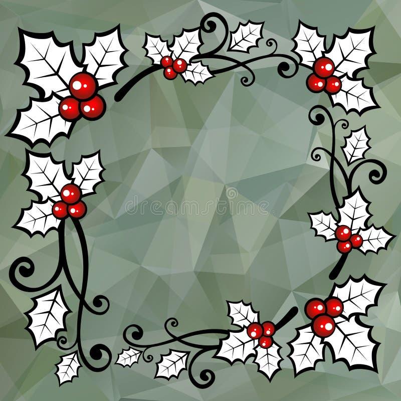 Fundo de Gray Polygonal ilustração royalty free