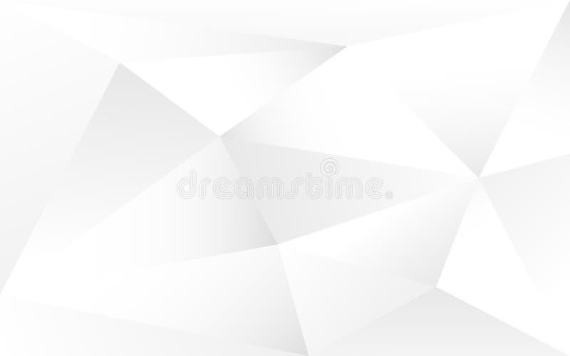 Fundo de Gray Polygonal Contexto abstrato branco e cinzento geométrico Mosaico moderno do triângulo Molde do projeto Vetor ilustração stock