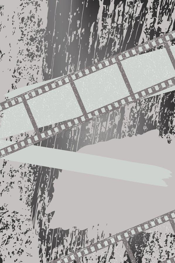 Fundo de Grunge com filmstrips ilustração stock