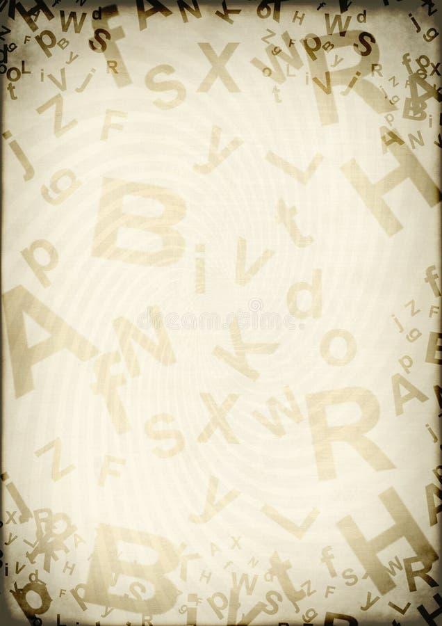Fundo de Grunge com letras ilustração do vetor