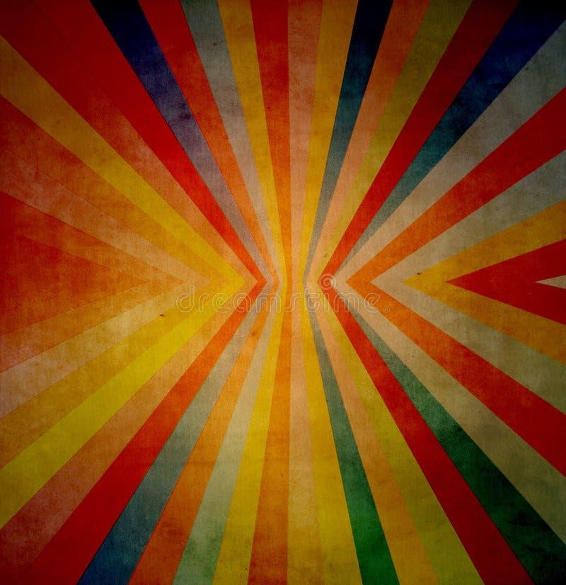 Fundo de Grunge com linha e cores radiative ilustração royalty free