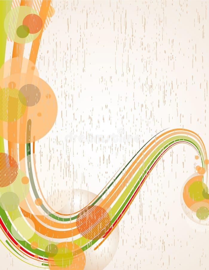 Fundo de Grunge com ondas ilustração do vetor