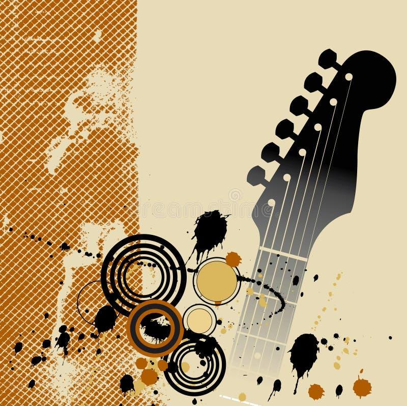 Fundo de Grunge da guitarra ilustração stock
