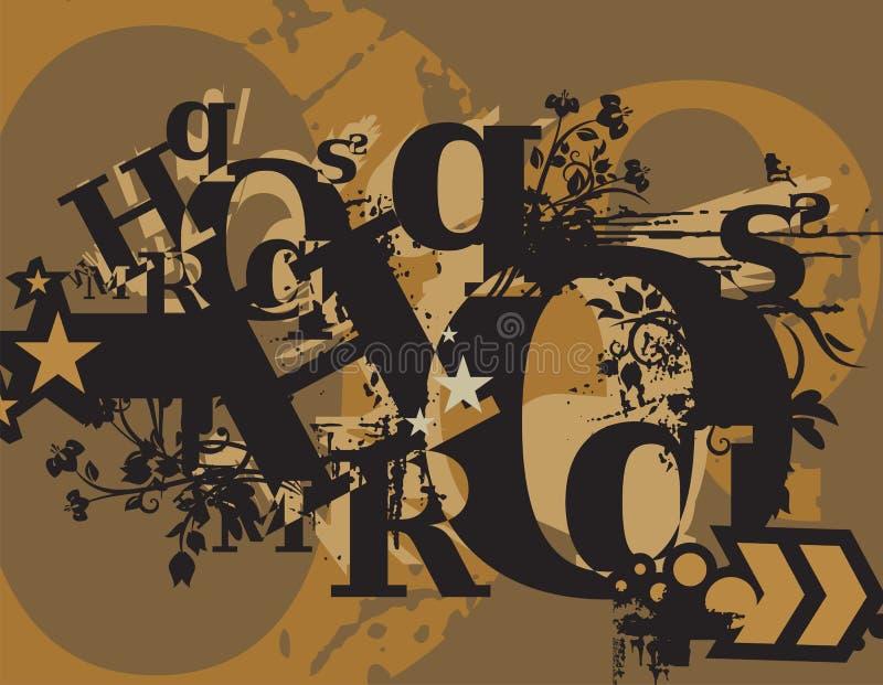 Fundo de Grunge do Typography ilustração stock