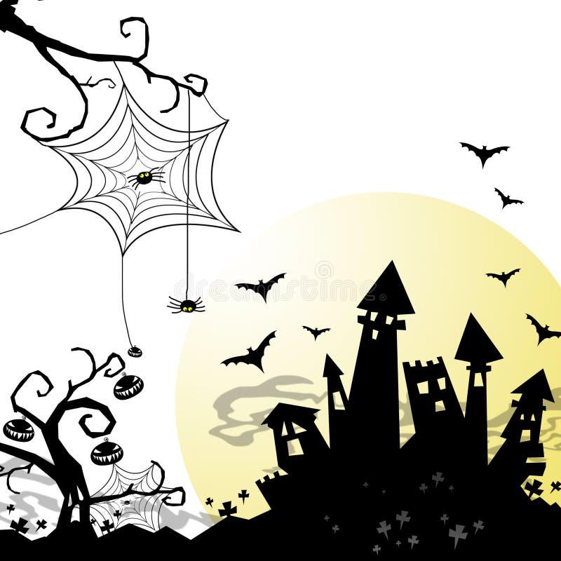 Download Fundo de Halloween ilustração stock. Ilustração de noite - 26501770