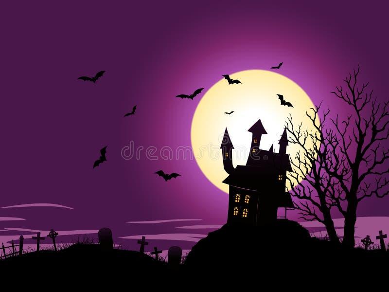 Fundo de Halloween dos desenhos animados ilustração royalty free