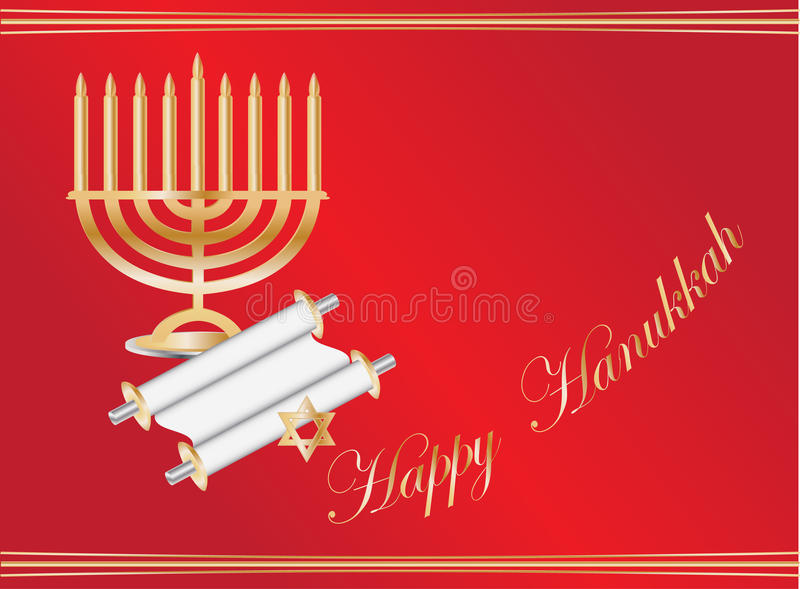 Fundo de Hanukkah ilustração royalty free