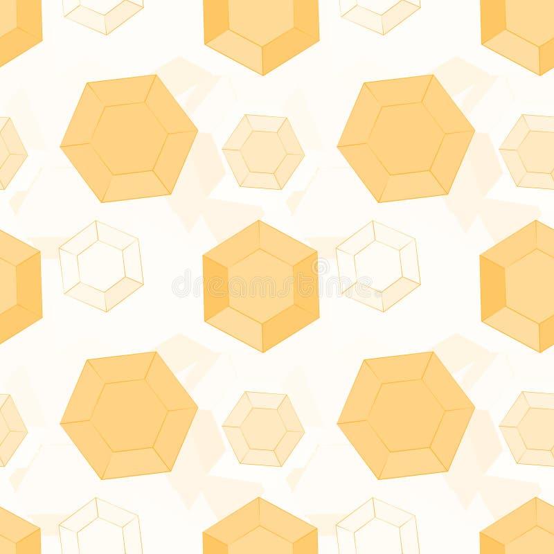 Fundo de hexágonos do favo de mel ilustração do vetor