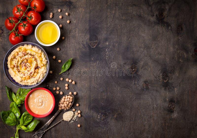 Fundo de Hummus fotografia de stock