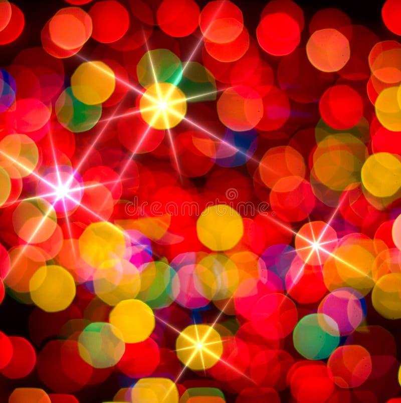 fundo de incandescência Multi-colorido. Cartão de Natal. foto de stock royalty free