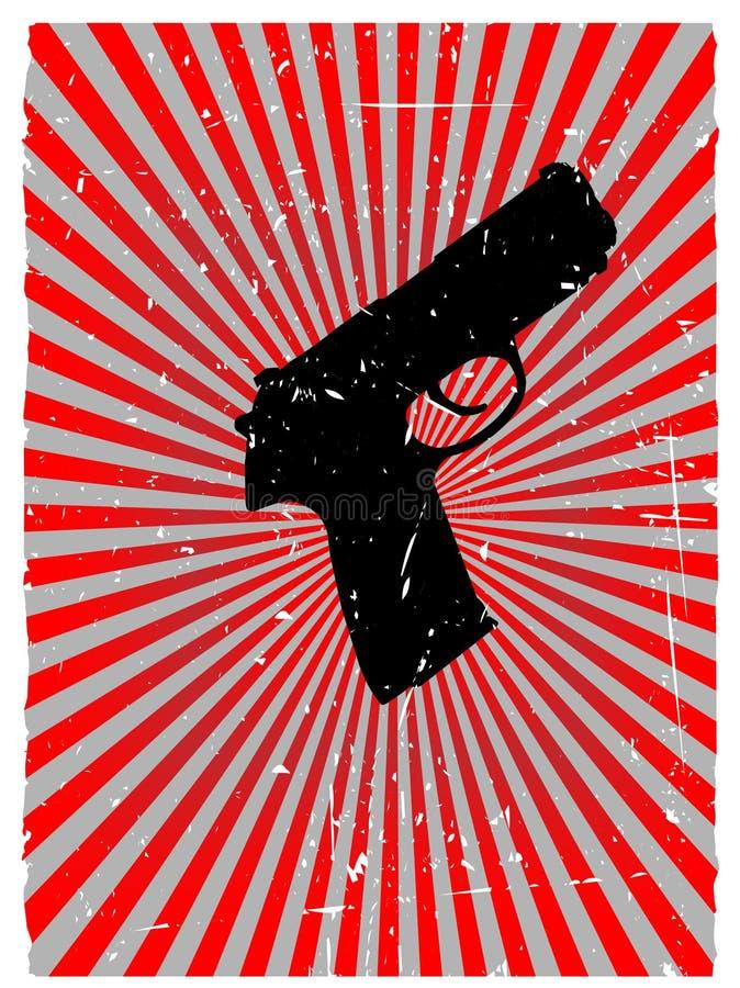 Fundo de incandescência vermelho do vetor do perigo do injetor de Grunge ilustração do vetor