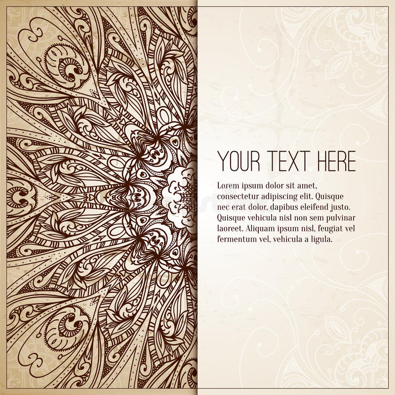 Fundo de Intage Cartão retro, convite ilustração royalty free