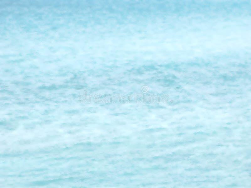 Fundo de intervalo mínimo azul da água do mar imagem de stock