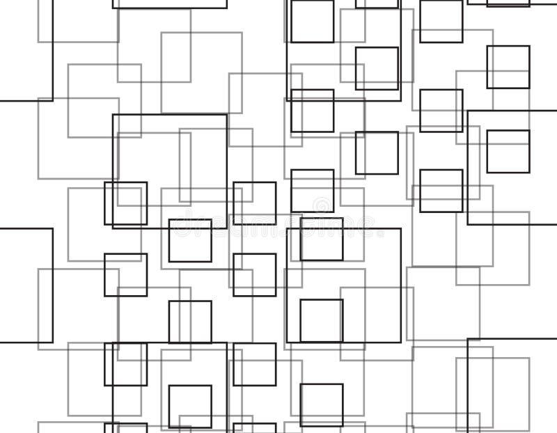 Fundo de intervalo mínimo monocromático do vetor do teste padrão dos retângulos preto e branco ilustração do vetor